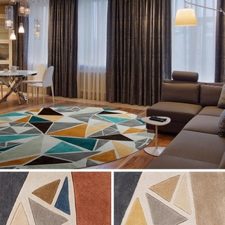 Hand-tufted Barton Contemporary Abstract Round Rug (8' Round)