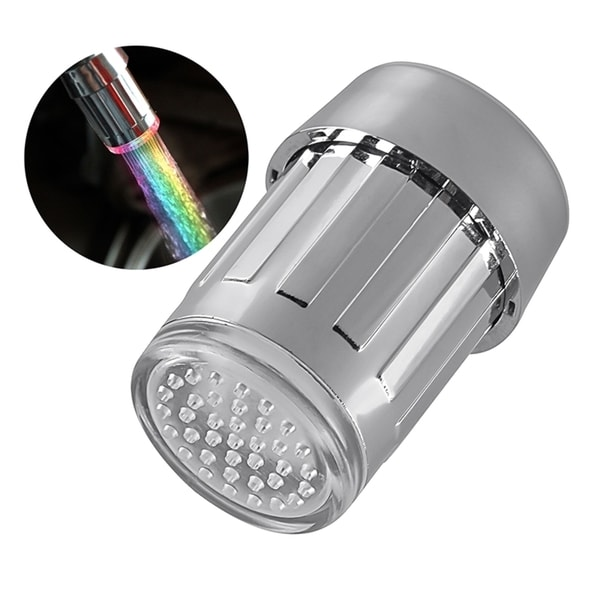 Bathroom Fixtures Colorful Led Shower Head 7-color Changing Shower Head No Battery Led Waterfall Shower Head Round Bathroom Showerhead Freeship Shower Equipment