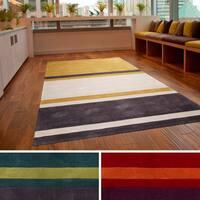 Hand-tufted Stripe Contemporary Area Rug (3'6 x 5'6)