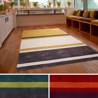 Hand-tufted Stripe Contemporary Area Rug
