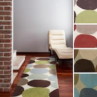 """Hand-tufted Geometric Contemporary Runner Area Rug - 2'6"""" x 8'"""