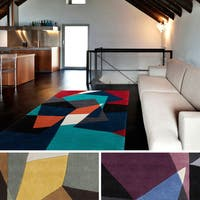 Hand-tufted Abstract Geometric Contemporary Accent Rug (2' x 3')