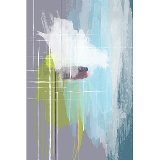 Maxwell Dickson 'The Architect' Abstract. Canvas Art Print (As Is Item)