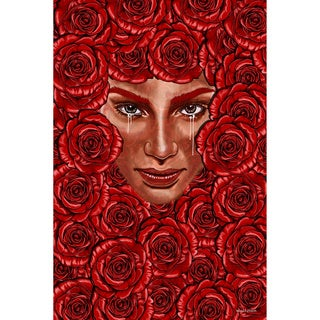 Maxwell Dickson 'Bed of Roses' Modern Canvas Wall Art