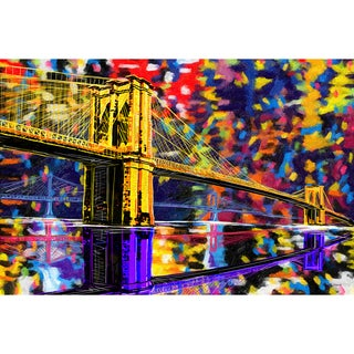Maxwell Dickson 'Brooklyn Bridge' Modern Canvas Wall Art
