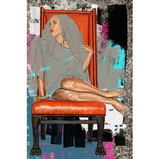 Maxwell Dickson 'On Her Throne' Canvas Art Print