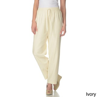 La Cera Women's Silk Wide-leg Pants (More options available)