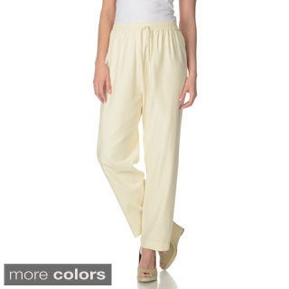 La Cera Women's Silk Wide-leg Pants