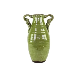 Ceramic Tuscan Green Vase