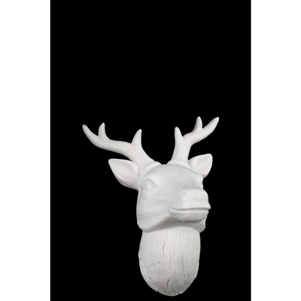 Porcelain Deer Head Wall Decor White - Free Shipping On Orders ...