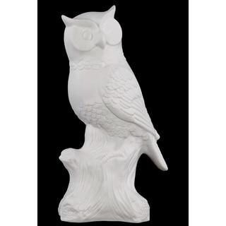 Porcelain Owl White Large