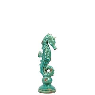 Ceramic Sea Horse Blue Small