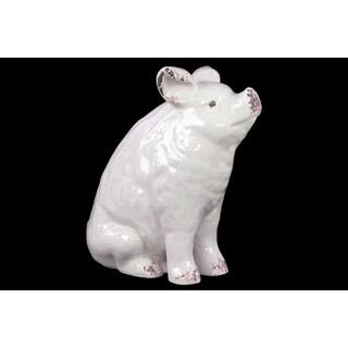 Ceramic Pig White