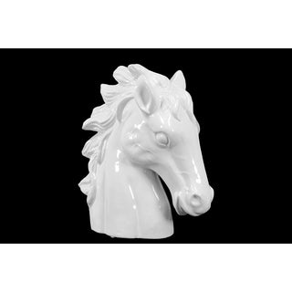 Ceramic Gloss White Finish Horse Head