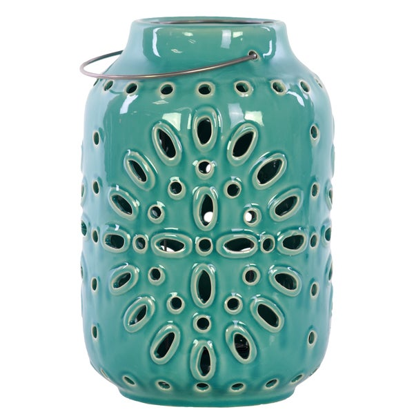 Ceramic Lantern Turquoise Free Shipping On Orders Over