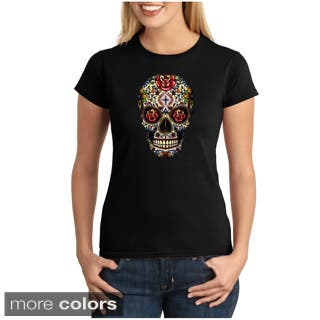 Women's Sugar Skull T-shirt (Option: Green)|https://ak1.ostkcdn.com/images/products/9051336/Womens-Sugar-Skull-T-shirt-P16247597.jpg?impolicy=medium