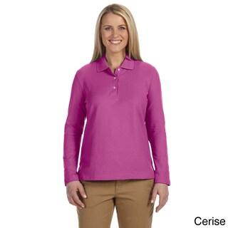 Women's Pima Piquù Long-sleeve Polo Shirt (Option: S,Cerise)