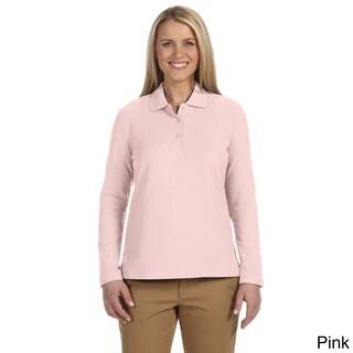 Women's Pima Piquù Long-sleeve Polo Shirt (5 options available)