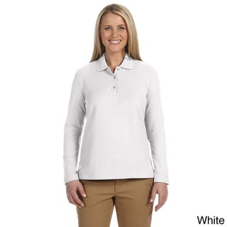 Women's Pima Piquù Long-sleeve Polo Shirt (5 options available)