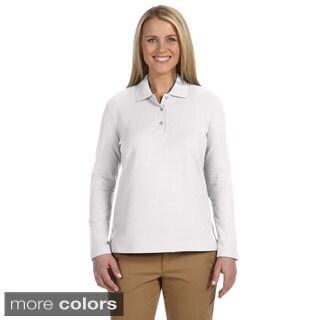 Women's Pima Piquù Long-sleeve Polo Shirt|https://ak1.ostkcdn.com/images/products/9051349/Womens-Pima-Piqu-Long-sleeve-Polo-Shirt-P16247598.jpg?_ostk_perf_=percv&impolicy=medium
