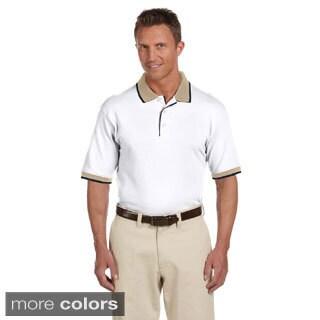 Men's Piqu Cotton Tipped Short-sleeve Polo
