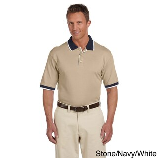 Men's Piqu Cotton Tipped Short-sleeve Polo