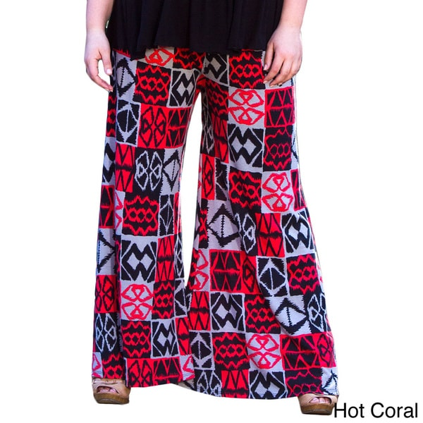 Sealed With a Kiss Women's Plus Size Printed Classic Jersey Pants