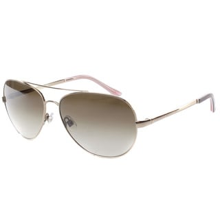 Kate Spade Womens 'Avaline 0AU2' Rose Goldtone Aviator Metal Sunglasses