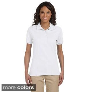 Women's 50/50 SpotShield Jersey Polo (Option: White)