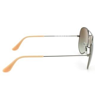 Ray-Ban Aviator RB 3025 Unisex Gold Frame Brown Gradient Lens Sunglasses