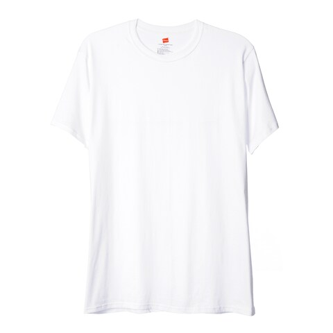 Hanes Men's Big & Tall White Crew Neck Tees (Pack of 3)