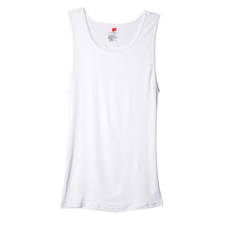 Hanes Men's Big & Tall White Tank Undershirts (Pack of 3)