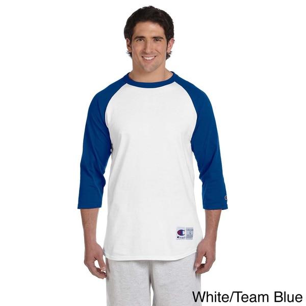 Champion Men's Tagless Raglan Baseball T-shirt