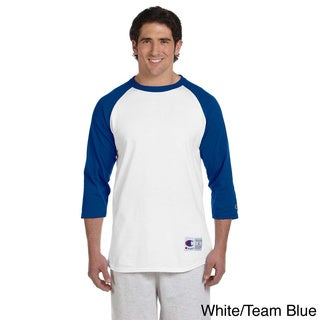 Champion Men's Tagless Raglan Baseball T-shirt