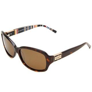 Kate Spade Women's 'Annika /P JEBP' Tortoise Polarized Plastic Sunglasses