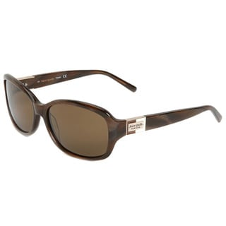 Kate Spade Polarized Aviator Sunglasses  kate spade womens annika 1q8p brown horn polarized sunglasses