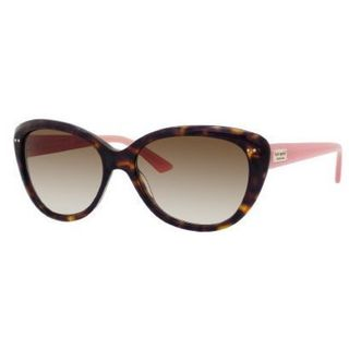 Link to Kate Spade Women's 'Angelique JUH' Tortoise and Pink Cat Eye Sunglasses Similar Items in Women's Sunglasses