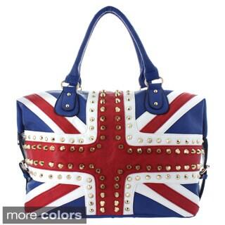 Oasis Handbag 'Gianna' Studded UK Flag Tote
