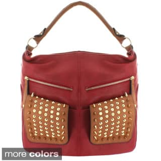 Oasis 'Deasia' Sharp Studded Flap Pocket Tote|https://ak1.ostkcdn.com/images/products/9051480/Oasis-Deasia-Sharp-Studded-Flap-Pocket-Tote-P16247682A.jpg?impolicy=medium