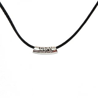 Handmade Sterling Silver Filigreed Tube Pendant Necklace (China)
