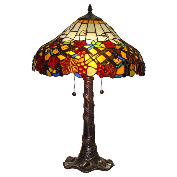 amora lighting tiffany style grapes design table lamp free shipping. Black Bedroom Furniture Sets. Home Design Ideas