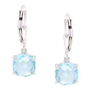 La Preciosa Sterling Silver Blue Topaz Earrings