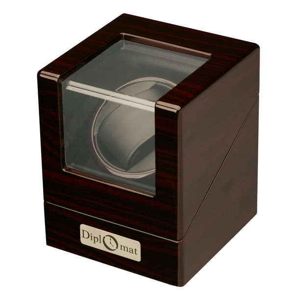 Diplomat Estate Ebony Wood Single Watch Winder
