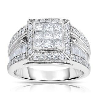 14k White Gold 1 1/2ct TDW Diamond Ring (G-H, I2)