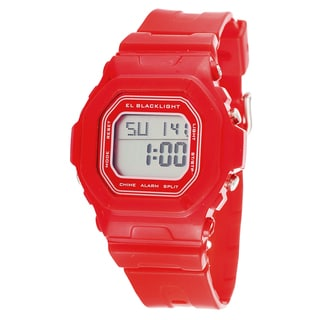 Pop Kids' Red 'Digital Multifunction' LCD LED Watch