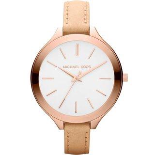 Michael Kors Women's Runway Slim Beige Strap Watch