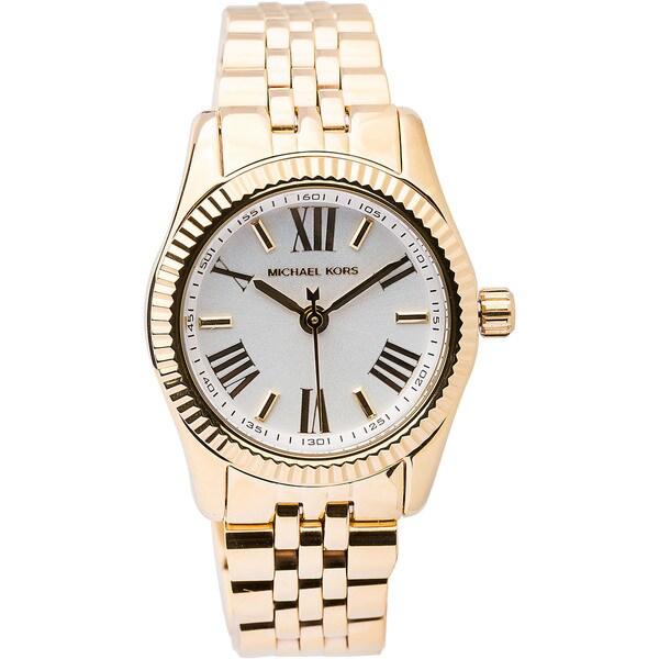 690ca8d30f11 Shop Michael Kors Women s  Lexington  Goldtone Watch - Free Shipping ...