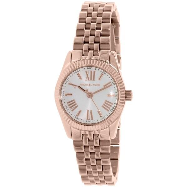 Michael Kors Women's Lexington Rose Goldtone Watch - PInk