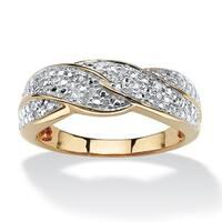 1/10 TCW Round Diamond Braid Ring in 10k Gold