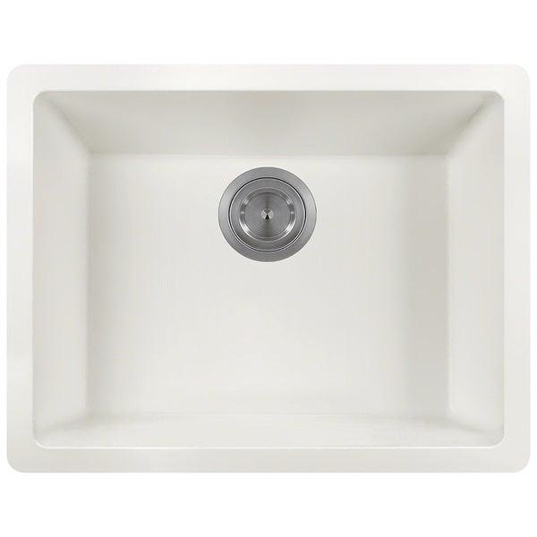 polaris sinks p808 white astragranite single bowl kitchen sink. beautiful ideas. Home Design Ideas